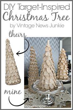 DIY Target Inspired Christmas Tree #Knock-off #Christmas