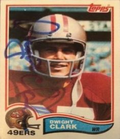 Find the best deal on Dwight Clark autographed items for your collection of Sports, Football memorabilia. Football Trading Cards, Football Cards, 49ers Helmet, Si Magazine, Sports Illustrated Covers, Football Memorabilia, Sport Hall, Nfl Logo, Indianapolis Colts
