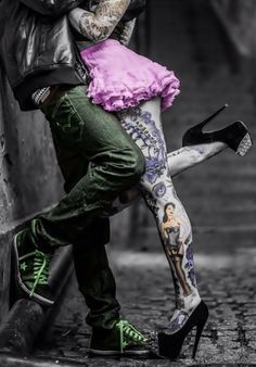 Rockabilly, leg tattoos, love, lust