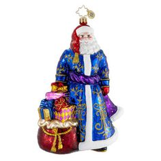 RADKO 1016266 GRAND OLD GENT - GLORIOUS SANTA IN PURPLE COAT ORNAMENT - NEW 2012 (12-13)
