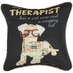 My Therapist Pillow at The Animal Rescue Site
