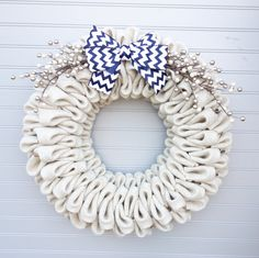 Year Round Wreath Burlap Bubble Wreath by simplypearldesigns