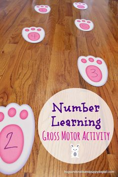 Number Learning Gross Motor Activity - FSPDT  - repinned by @PediaStaff – Please Visit ht.ly/63sNtfor all our pediatric therapy pins