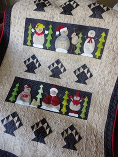 Woolly Snow Friends quilt at Sunflower Fields Pattern Company: