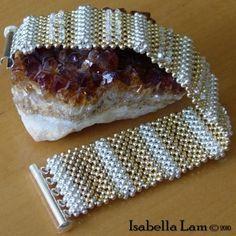 Impresionante pulsera de Gold-filled y plata elegancia por bead4me