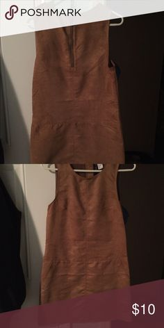 Suede H&M dress worn once. Very comfortable, cute, and multipurpose. Has front pockets. H&M Dresses Mini