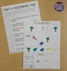 Map Skills- printable activities to help students practice using a map key, a compass rose, and a scale to read, interpret, and create basic maps $