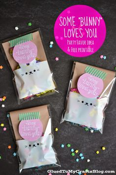 """Some """"Bunny"""" Loves You Party Favor Idea & Free Printable"""