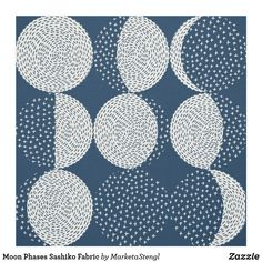 Hardanger Embroidery Tutorial Moon Phases Sashiko Fabric - Moon phases repeating patter is inspired by Japanese embroidery sashiko. Hardanger Embroidery, Hand Embroidery Patterns, Embroidery Thread, Embroidery Designs, Embroidery Supplies, Machine Embroidery, Embroidery Tattoo, Art Patterns, Flower Embroidery