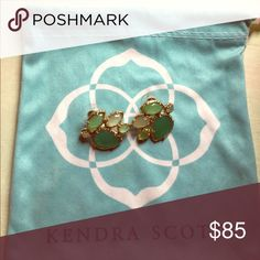 Kendra Scott green studs Beautiful authentic Kendra Scott studs! Kendra Scott Jewelry Earrings