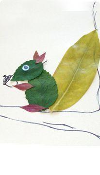 Leaf Squirrel Craft leaf art from leaves Autumn Leaves Craft, Autumn Crafts, Fall Crafts For Kids, Autumn Art, Nature Crafts, Diy For Kids, Kids Crafts, Autumn Activities, Craft Activities
