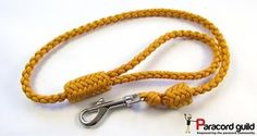 Braided paracord dog leash with herringbone knots- a tutorial.