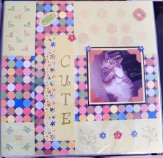 """""""How to look cute"""" Pet scrapbook layout 12x12"""