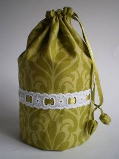 TUTORIAL:  Tin Can Drawstring Bag - PURSES, BAGS, WALLETS