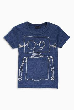 Buy Blue Robot T-Shirt (3mths-6yrs) online today at Next Direct: Brazil