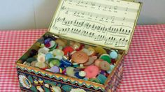 Vintage Buttons In Daher Tin by CaitlandStudio on Etsy