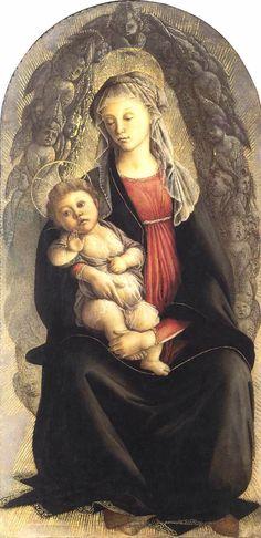 Madonna in Glory with Seraphim - Sandro Botticelli..