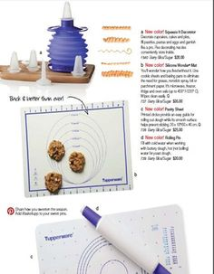 The silicone mat is back and better than ever! Safe in the fridge, freezer, microwave and oven (up to 428 degrees). Use in place of parchment paper to bake your cookies! $35 order here: New Color in Fall/Holiday 2014 catalog; Berry Bliss/Sugar.  http://my2.tupperware.com/tup-html/N/nellie83-welcome.html