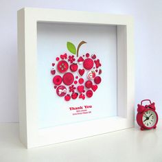 thank you teacher personalised apple picture by sweet dimple | notonthehighstreet.com