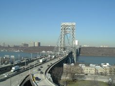 George Washington Bridge from Fort Lee, New Jersey Fort Lee, Washington Heights, Hudson River, George Washington Bridge, New Jersey, Places Ive Been, New York City, Travel, Trips
