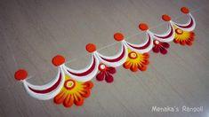 Easy Border Rangoli Design For Diwali Easy Border Rangoli ., Easy Border Rangoli Design For Diwali Easy Border Rangoli . Easy Rangoli Designs Videos, Rangoli Side Designs, Rangoli Designs Simple Diwali, Rangoli Simple, Rangoli Designs Latest, Free Hand Rangoli Design, Small Rangoli Design, Rangoli Patterns, Rangoli Ideas