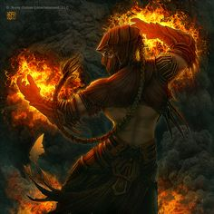 Flame Mage by *kerembeyit on deviantART