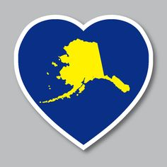 How could you not love the beautiful state of Alaska? Show off your love or give a great gift with our Alaska Heart. These are available along with all our other Pacific Northwest items at www.stickersnorthwest.com