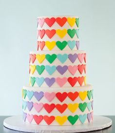 My favorite cake EVER! Rainbow heart cake by Wild Orchid Baking Co.
