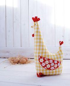 Chicken Doorstop from Half Yard Heaven by Debbie Shore: