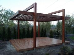 The pergola kits are the easiest and quickest way to build a garden pergola. There are lots of do it yourself pergola kits available to you so that anyone could easily put them together to construct a new structure at their backyard. Building A Pergola, Pergola With Roof, Wooden Pergola, Covered Pergola, Backyard Pergola, Pergola Canopy, Building Plans, Small Pergola, Metal Pergola