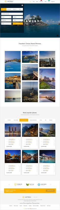 Vetrov is clean and modern design responsive bootstrap HTML template for #hotels, #tours and #travel agency website with 7 unique homepage layouts to live preview & download click on Visit