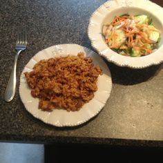 #Beachbody #UltimateReset lunch day #9: pinto beans and rice with a hearty microgreen salad and creamy garlic dressing (home made)