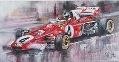 #adriaanlotter #southafricanart #ferrari South African Art, Ferrari, Racing, Vehicles, Car, Artist, Running, Automobile, Auto Racing