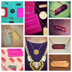 Stella & Dot | Engravable Collection! These are adorable ideas. Want to personalize your own? Available only through a stylist. Visit: www.stelladot.com/mhughes