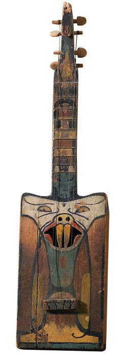 "Jolly folk art ""banjo"" for musical evenings ~♥~ Homemade Instruments, Box Guitar, Chant, Naive Art, Folk Music, Outsider Art, Or Antique, Music Stuff, Musical Instruments"