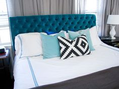 Get the tutorial for this tufted headboard from Glitter and Goat Cheese #romanticbedrooms