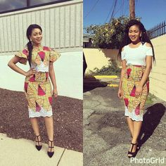 Online Hub For Fashion Beauty And Health: Stylishly Classy Ankara Midi Skirt And Blouse For . African Men Fashion, Africa Fashion, African Wear, African Women, Pencil Skirt Tutorial, Short African Dresses, Become A Fashion Designer, Ankara Skirt, Ankara Styles