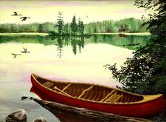 Fishing trip at the lake Wood Boat Plans, Boat Building Plans, Wooden Speed Boats, Wooden Boats, Now Is Good, Wood Canoe, Boat Illustration, Boat Projects, Canoe Trip