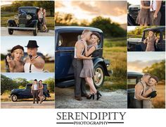 www.serendipityphotography.biz Bonnie & Clyde themed engagement session Oregon wedding & engagement photographer golden hour, off camera flash, outlaws, props, photography, oregon wedding photographer, 1930's, 1940's era, themed session
