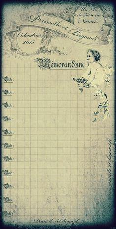 2015 a-Couverture calendrier Prunelle et Bigoudi. ..♥..Nims..♥