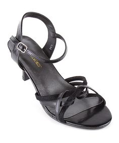 Take a look at this Black Prissy Sandal by Annie Shoes on #zulily today!