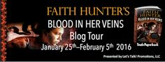 Tome Tender: Veins by Faith Hunter Blog Tour and Giveaway 1 Copy of  BLOOD IN HER VEINS (USA Mailing Addresses Only No PO BOX accepted) -Ends Feb. 5, 2016