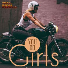 """""""Heres to the girls who make the other girls wish they could ride too."""" Explore the Unforgettable Journeys Here - https://www.trailsofindia.com/motorcycle-trails/  #BikeTrails"""