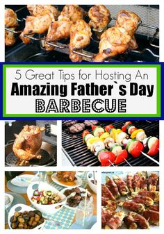 5 Great Tips For Hosting An Amazing Father`s Day Barbecue with ideas for food, some easy decor and a fun game!