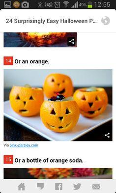 Mini calabazas con naranjas