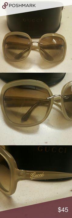 Gucci Sunglasses Authentic Gucci Taupe/Beige translucent plastic sunglasses. Gucci Accessories Sunglasses