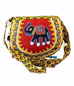 Desi Crown Red Online Bags, Saddle Bags, Desi, Purses And Bags, Captain Hat, Elephant, Crown, Shoulder Bag, Yellow