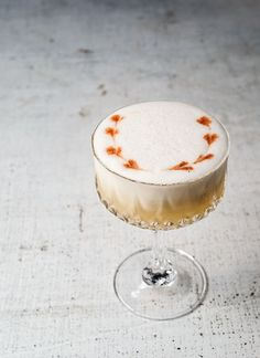 Bumble Bee cocktail recipe (rum, lime, honey, egg white) | Photo: Daniel Krieger