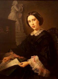 1860 - 'Portrait of Dona Maria de los Angeles Osio de Cordero' by Juan Cordero, Mexico, 1822-1884. National Art Museum, CNCA, INBA, Mexico