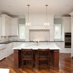 white kitchen, silvermist paint color by sherwin williams